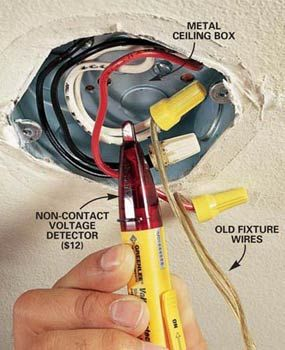How to Hang a Ceiling Light Fixture Installing light