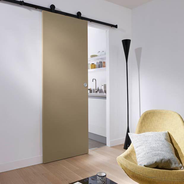 Syst me coulissant en applique harlem porte bois portes - Systeme coulissant pour pose applique porte ...