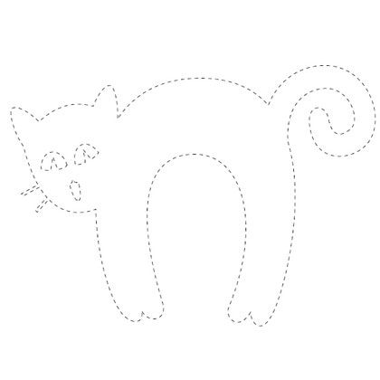 Halloween Templates to Cut Out This traceable cat pattern is fun