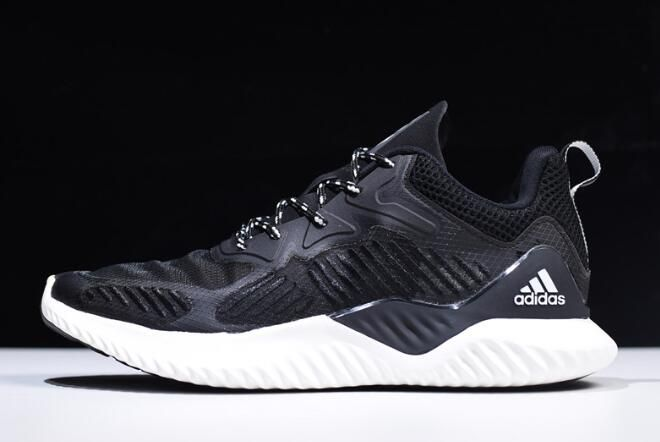 the latest 646ef 7d04b 2018 New Mens adidas AlphaBounce Beyond Black White B42381
