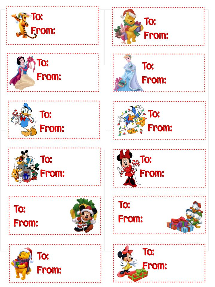 Dress up kids christmas gifts with their favorite disney dress up kids christmas gifts with their favorite disney characters printable gift tags negle Choice Image