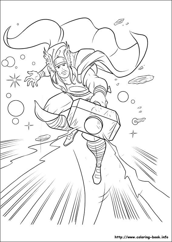 20 Free Printable Thor Coloring Pages: Thor Coloring Page (site Has Tons Of Coloring Pages)