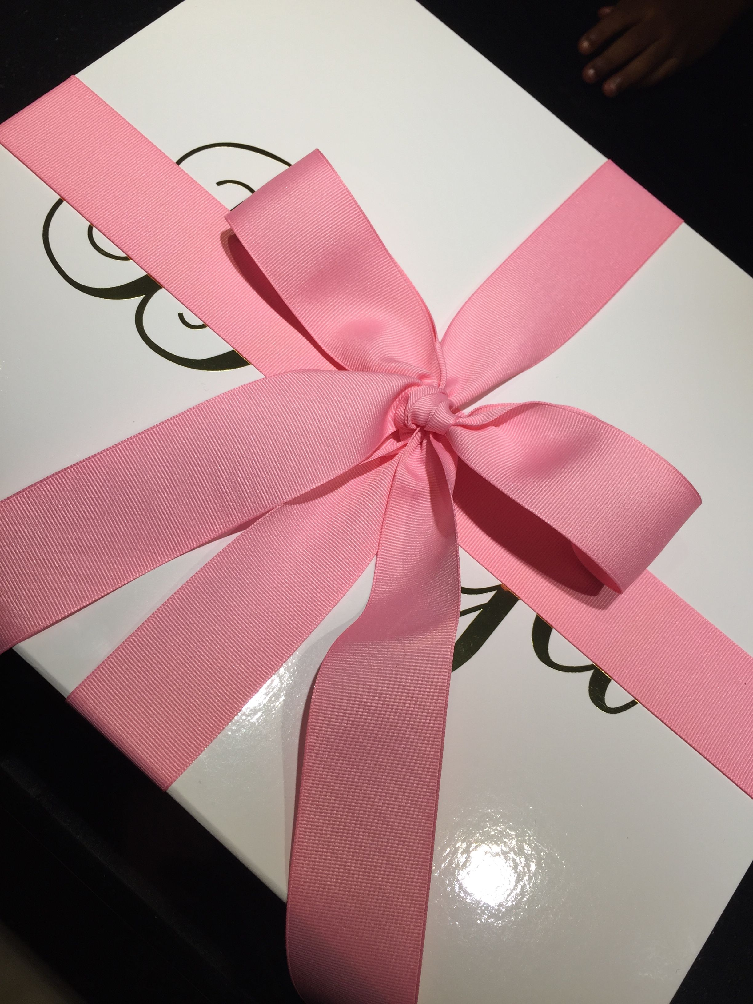 Personalized Large Glossy Gift Boxes Inscribed and filled with ...