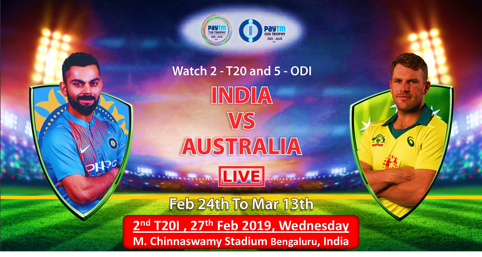 India Vs Australia Paytm Series Is Streaming Live On Hotstar