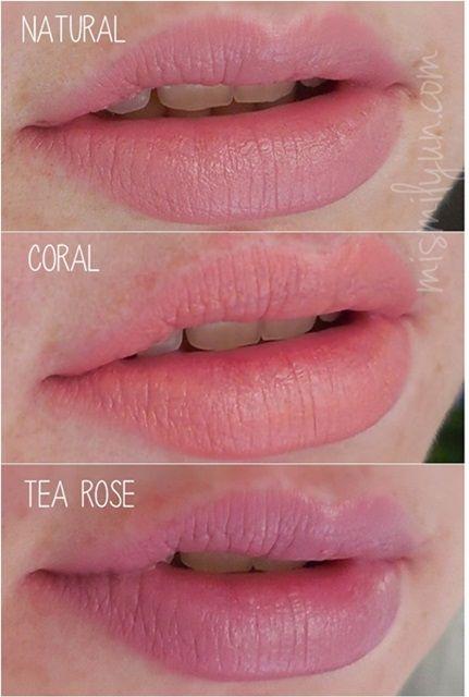 Labiales matte lip color de elf natural coral y tea rose for Natural rose colors