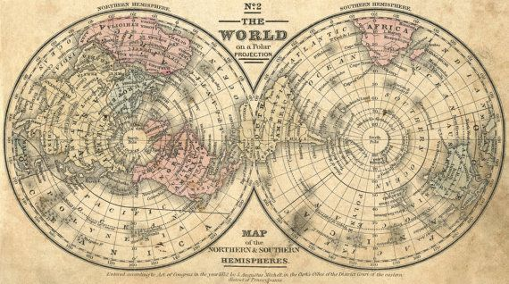 World map print Ancient maps Atlas Ancient map by mapsandposters - new antique world map images