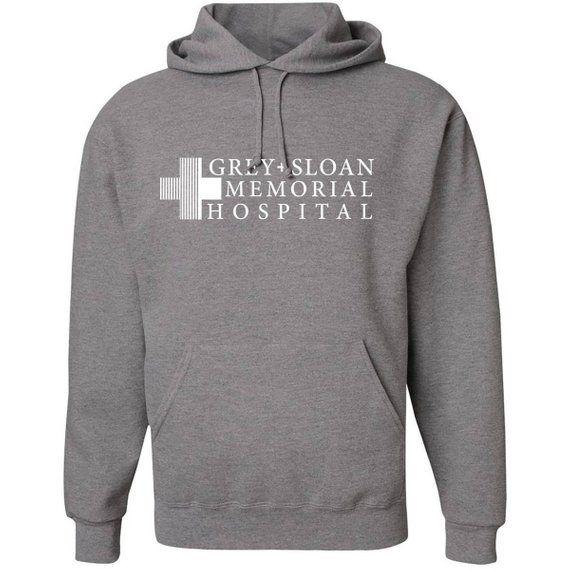 Pullover Hoodie Grey Sloan Memorial Hospital