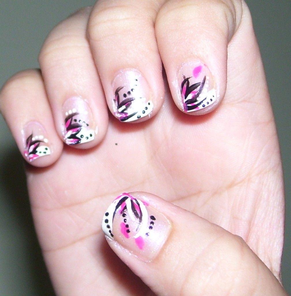 Simple Nail Art For Short Nails   Nails   Pinterest   Simple nail ...