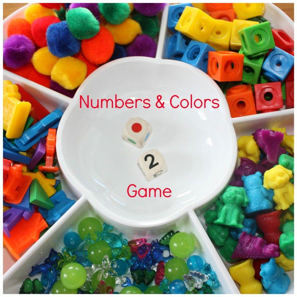 color games kindergarten : Colors Grid Game Homemade Preschool Math Game
