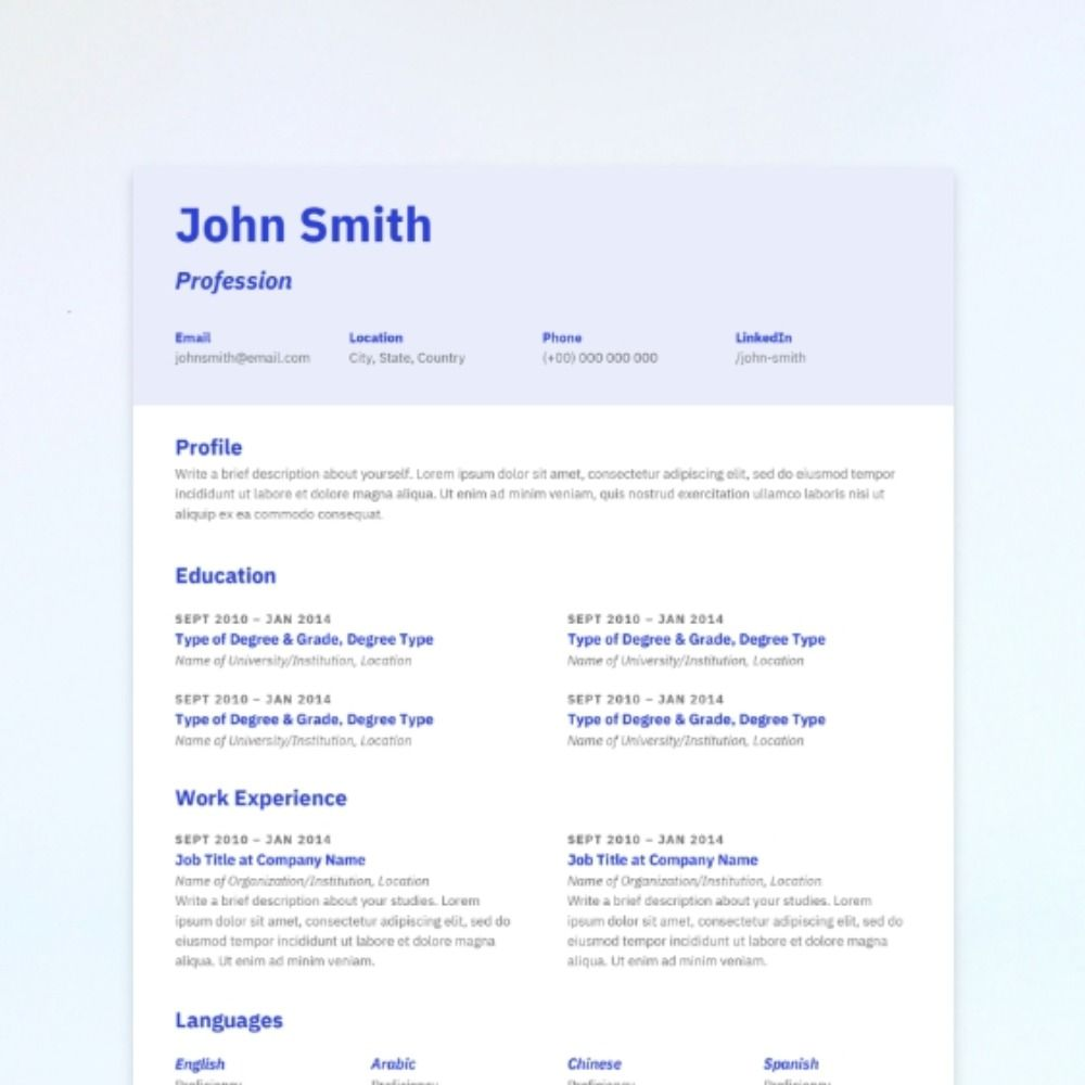 This combination resume mixes simplicity with