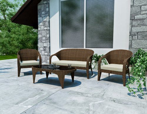 Sonax Z-206-SHP Harrison Patio Lounge Set by Sonax. $1599.00. Accent toss cushions available separately. High quality latte foam colored seat cushions with zippered, washable fabric covers. Heavy duty aluminum frames. Piano Black Safety Glass Top in Wicker Frame. Durable and easy to care for pacific bark weave made of resin rattan wicker. Relish your summer days and nights with this sofa and table combination in our two tone Pacific Bark weave. The Pacific Bark ratta...