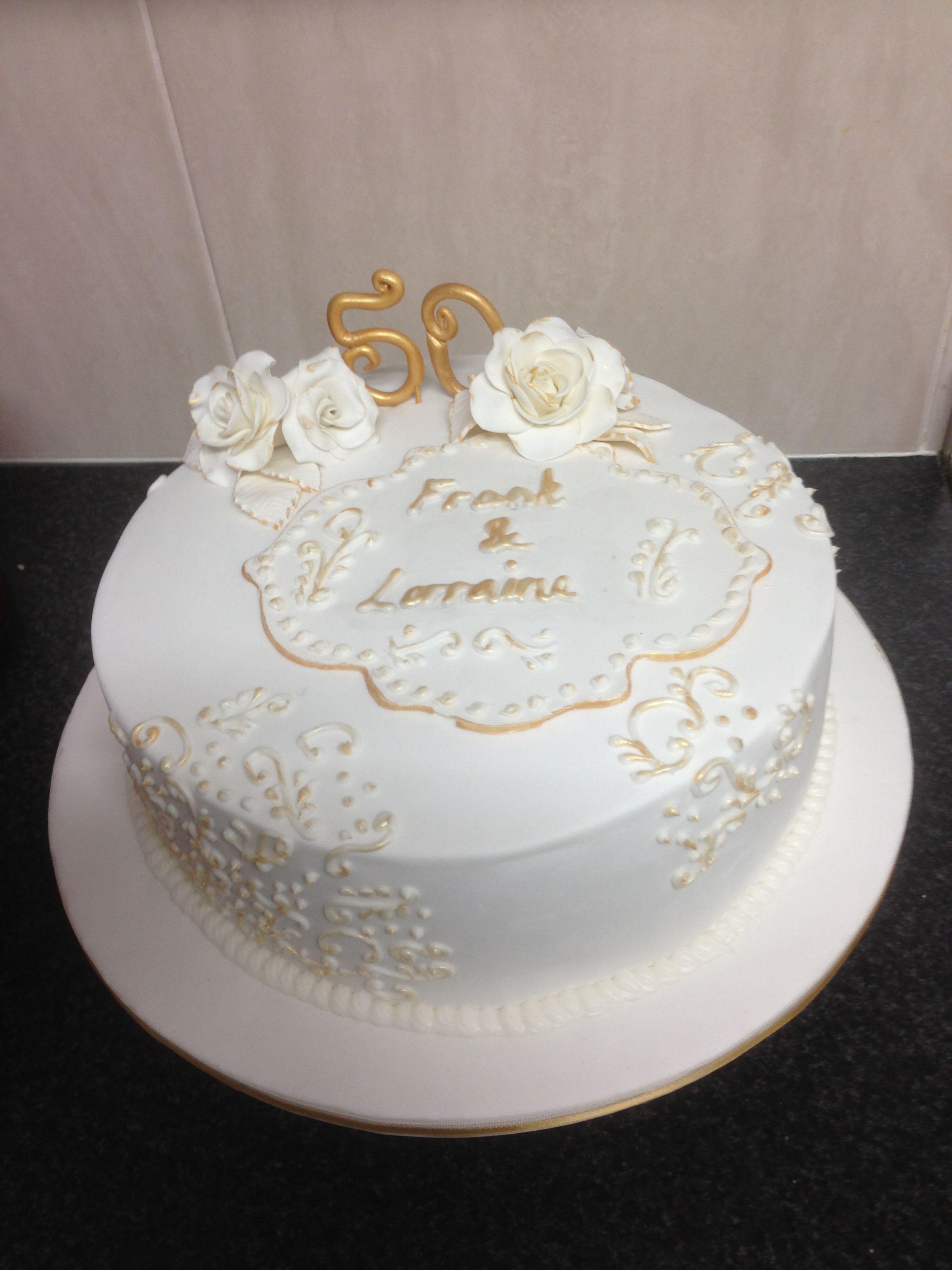 50th wedding anniversary cake   cakes   Pinterest   Wedding ...