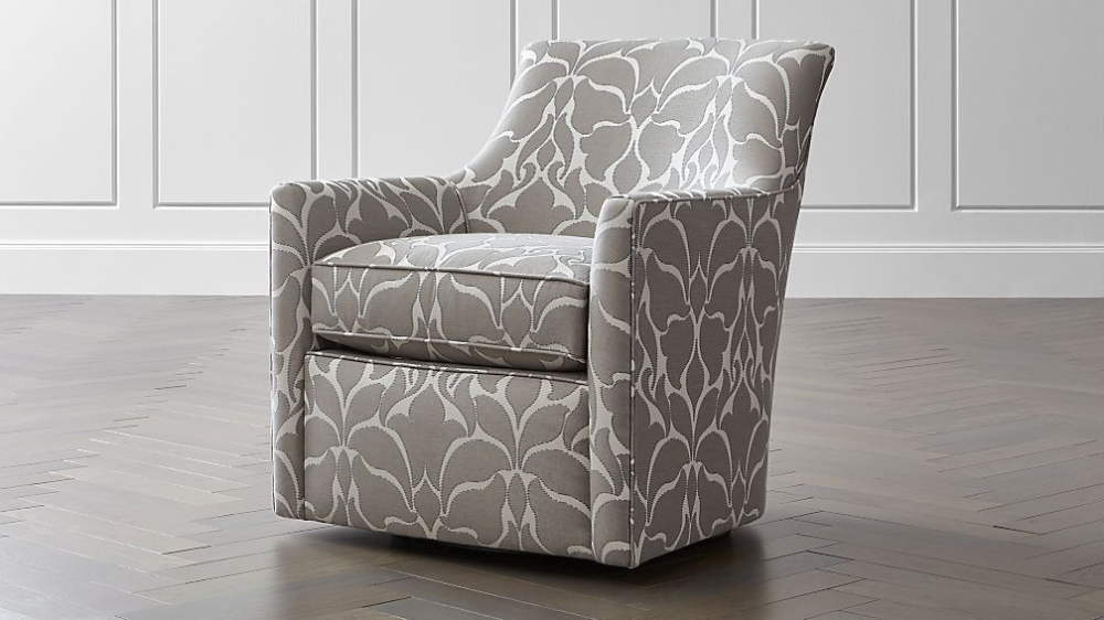 Clara Swivel Accent Chair Crate And Barrel In 2020