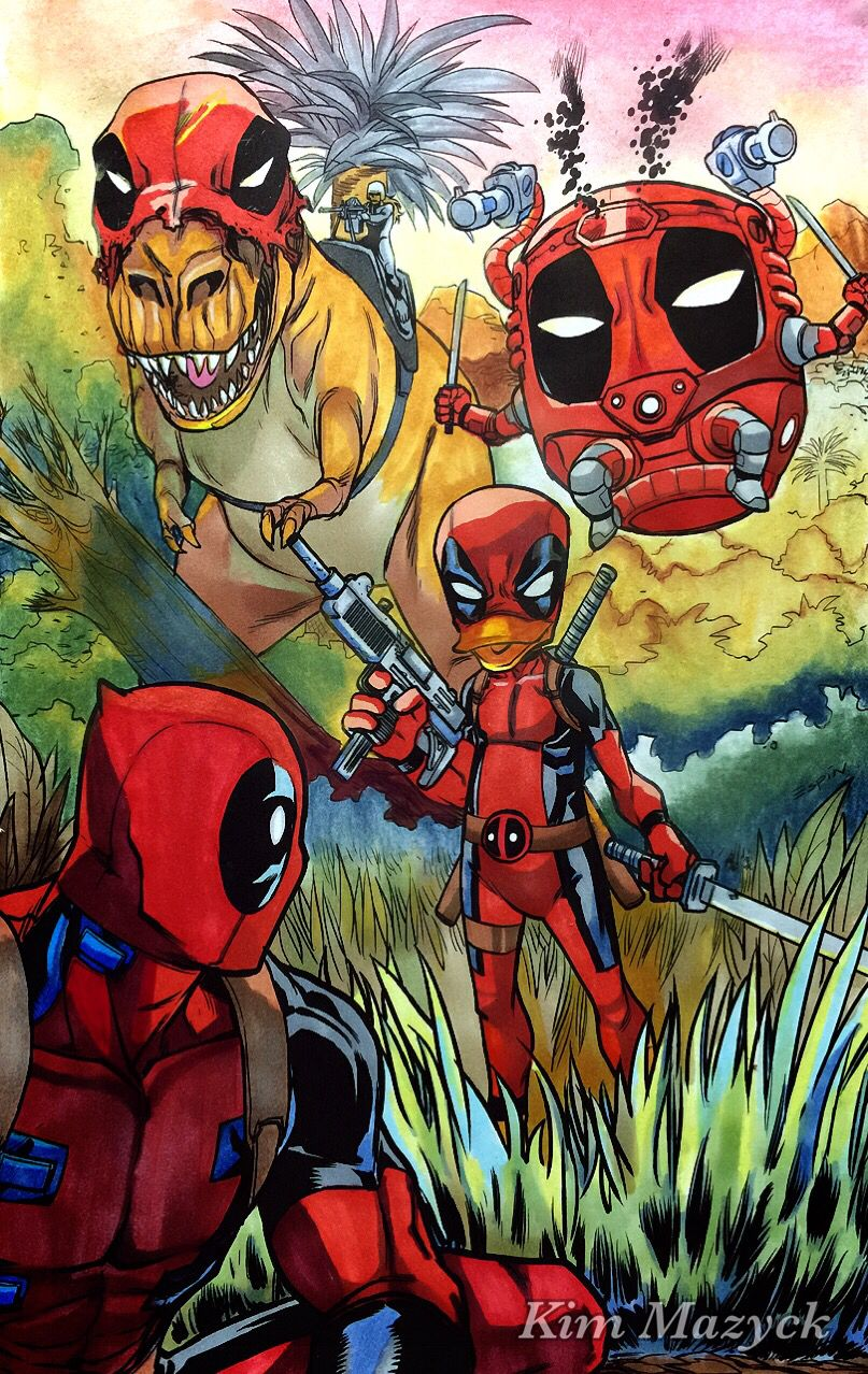 Coloring book with guide - Coloring Book Name Color Your Own Deadpool Markers Copic Copic Sketch Copic