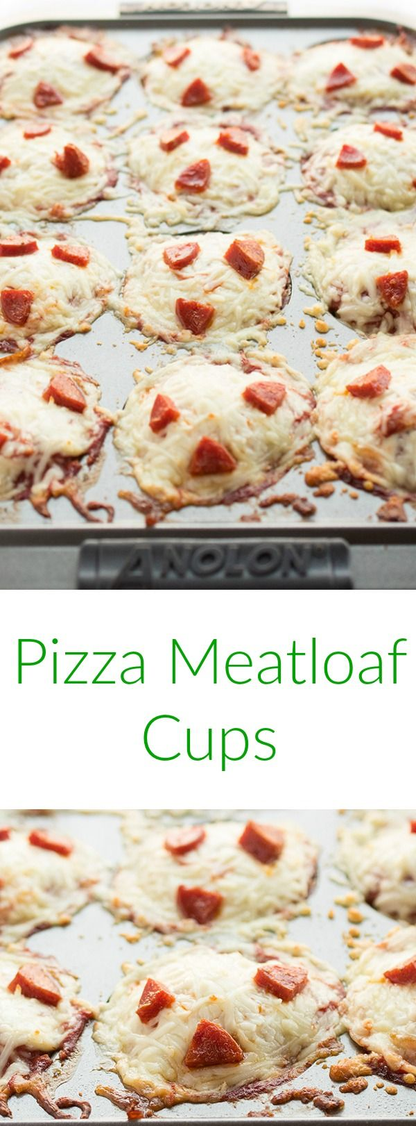 Two of your favorite comfort foods collide in this healthy mash-up of pizza and meatloaf. Fast, healthy and naturally gluten free, these pepperoni pizza meatloaf muffins are always a hit.