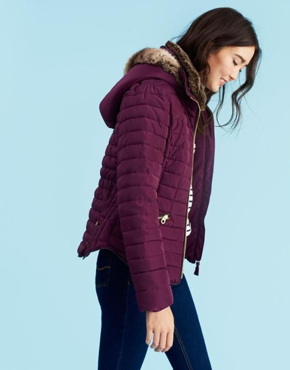 Joules US GOSLING Womens Padded Jacket Burgundy | Wish Wish ... : joules green quilted jacket - Adamdwight.com