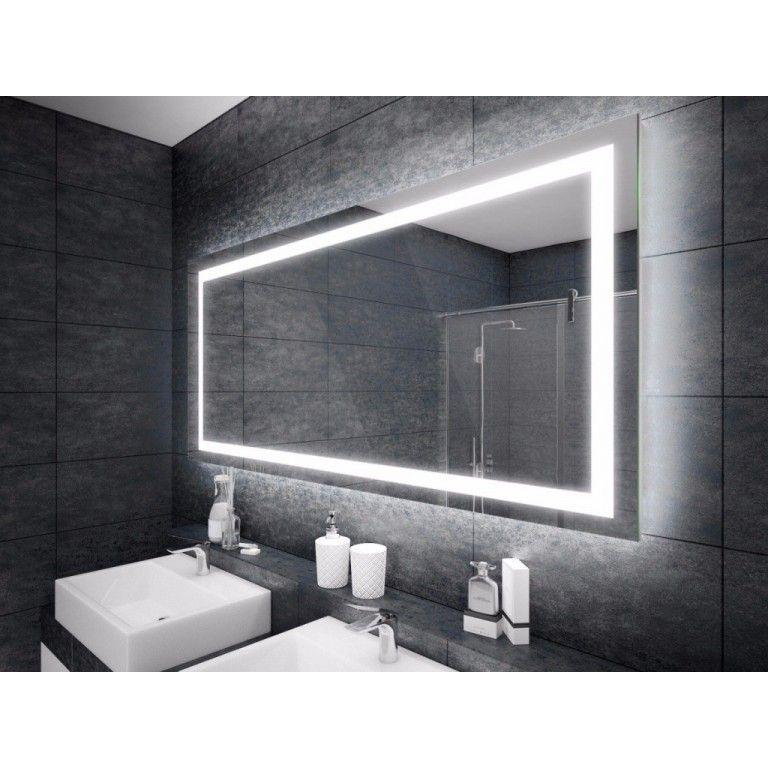 Espejo con iluminación LED, en forma de rectángulo Armario