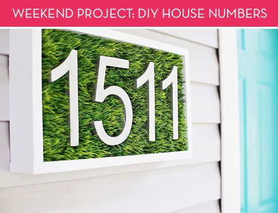Weekend Project A Unique House Numbers Diy Made Of Faux Grass