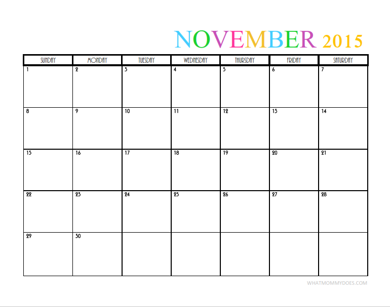 2015 Monthly Calendar Templates | 2015 Calendar Template, Monthly