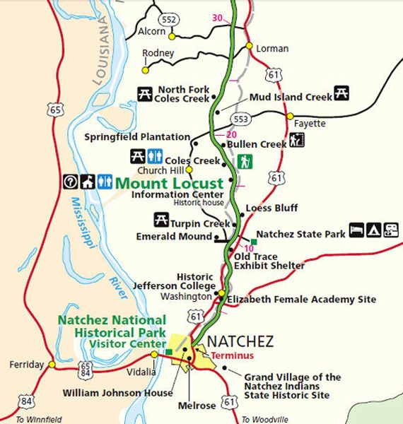 Natchez Parkway Map - Milepost 1-30 | Natchez trace ... on interstate 27 map, interstate 422 map, i-10 map, lincoln way map, interstate 4 map, interstate 20 map, texas map, interstate 70 map, interstate 421 map, highway 82 map, interstate 8 map, interstate 81 map, i-70 colorado road map, interstate 80 map, interstate 5 map, interstate 25 map, interstate 75 map, interstate i-10,