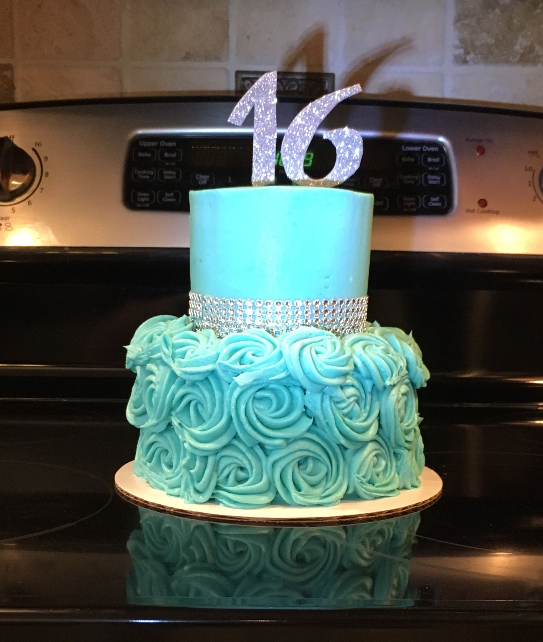 Incredible Tiffany Blue Sweet 16 Birthday Cake Sweet 16 Birthday Cake Funny Birthday Cards Online Alyptdamsfinfo
