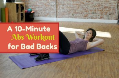 The Best Abs Exercises That Are Easy On Your Back | SparkPeople