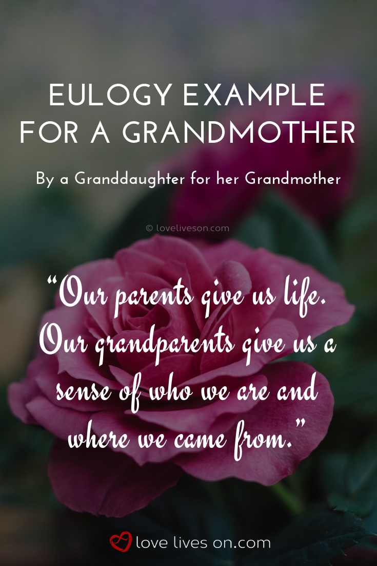 how to write a eulogy for a grandmother example