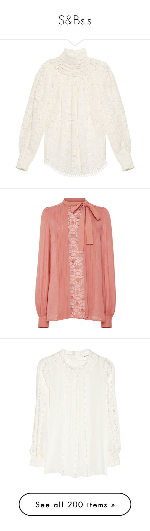 """""""S&Bs.s"""" by duchessq ❤ liked on Polyvore featuring tops, blouses, zimmermann, white, ruffle top, ruffle blouse, white ruffle blouse, white summer blouse, white blouse and shirts"""