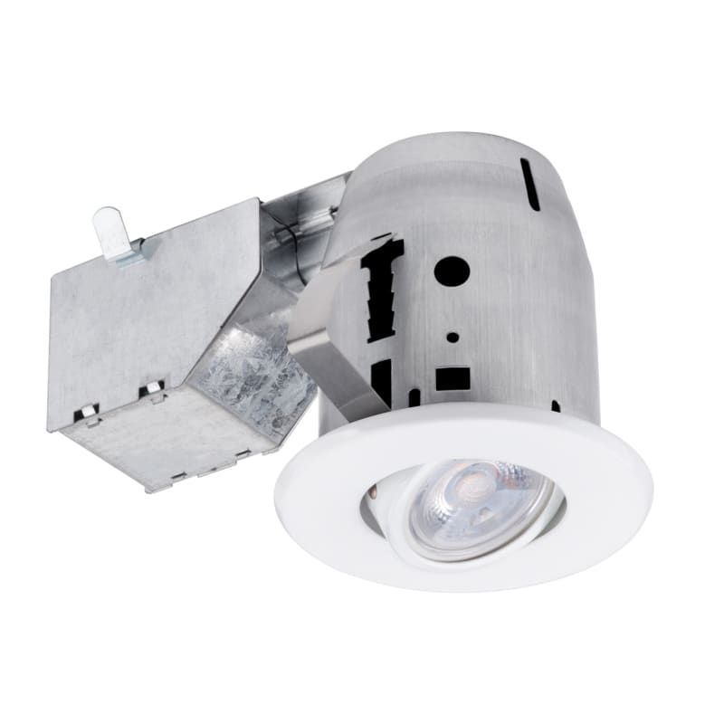 Globe Electric 90717 Led 3 Recessed Lighting Kit Swivel Bulb White Recessed Lights Trim And Housing Package Led Recessed Lighting Kits Led Recessed Lighting Recessed Lighting Trim