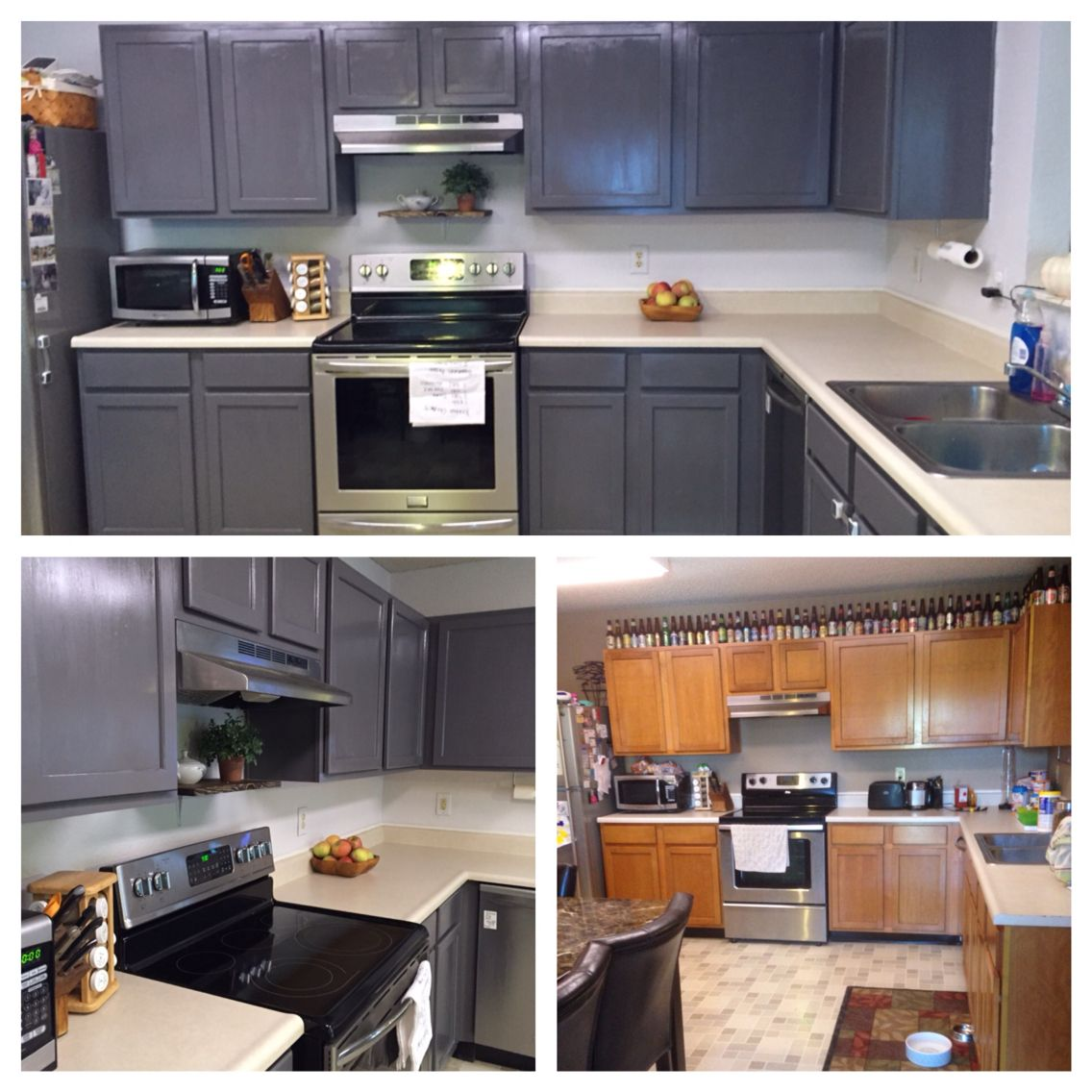 Best Paint For Kitchen Cabinets No Sanding: DIY Paint Kitchen Grey I Used General Finishes Milk Paint