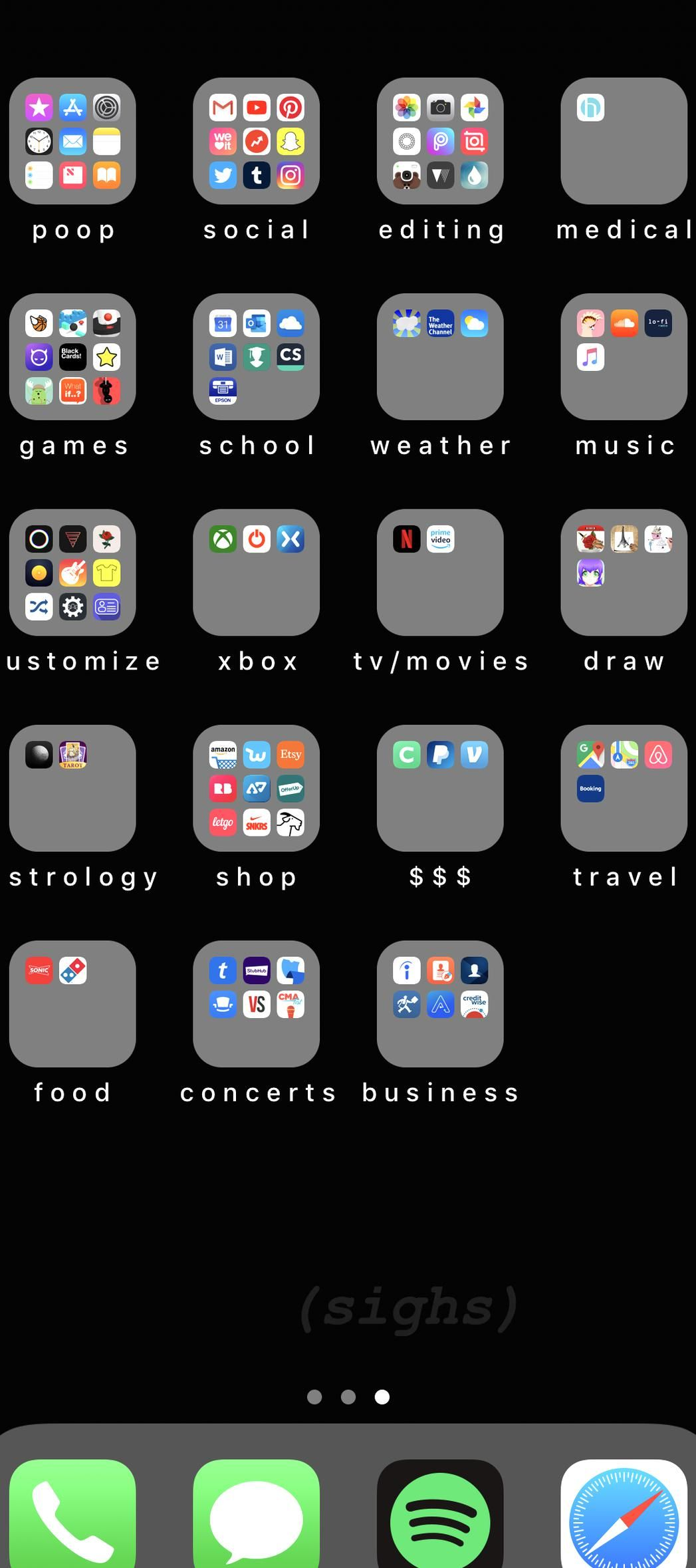 My iPhone home screen layout in 2020 Iphone home screen