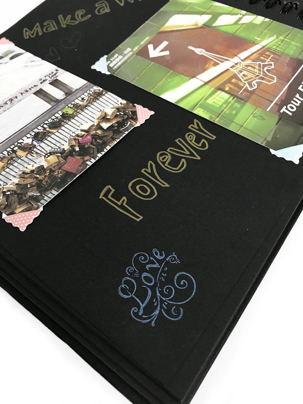 Scrapbook photo album x inchblack guest book wedding guest book