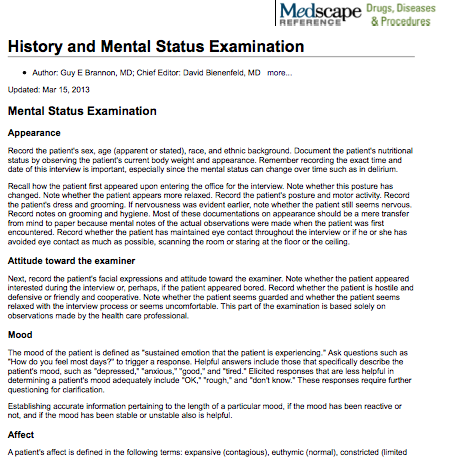 Mental Status Examination | Therapy Tools | Pinterest ...