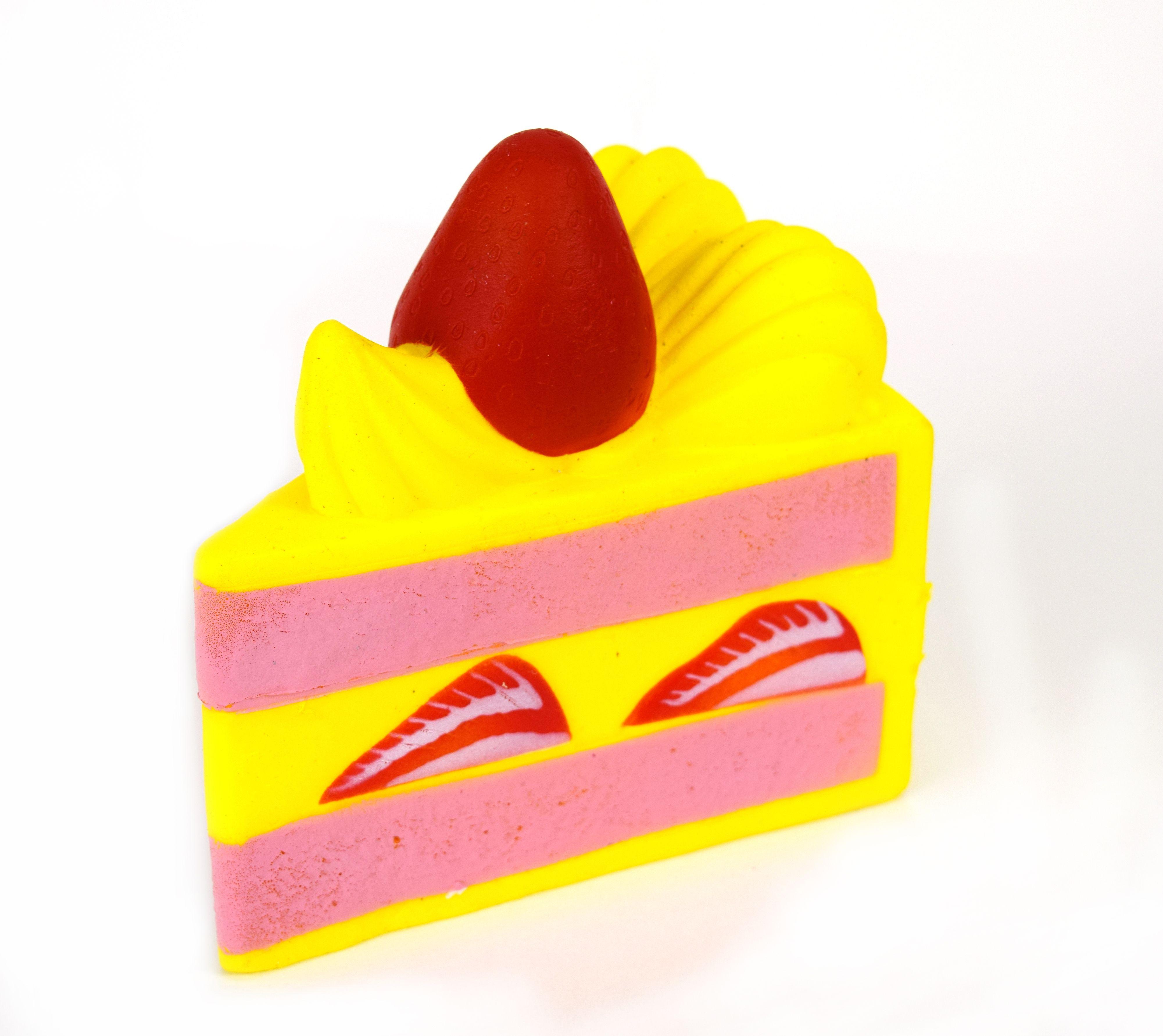 """Slow Rise Squishy 6"""" Large Shortcake Slice. Shortcake"""