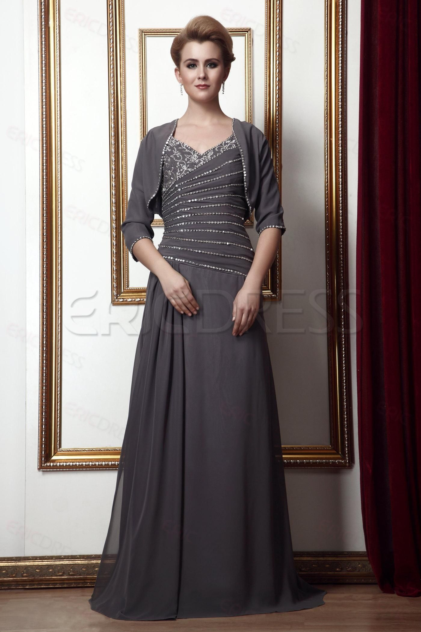 2012 Style Beading A Line V Neck Floor Length Mother Of The Bride