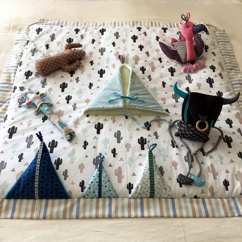 Couture Tapis De Sol Bébé tapis d'éveil sensoriel transformable en sac de rangement