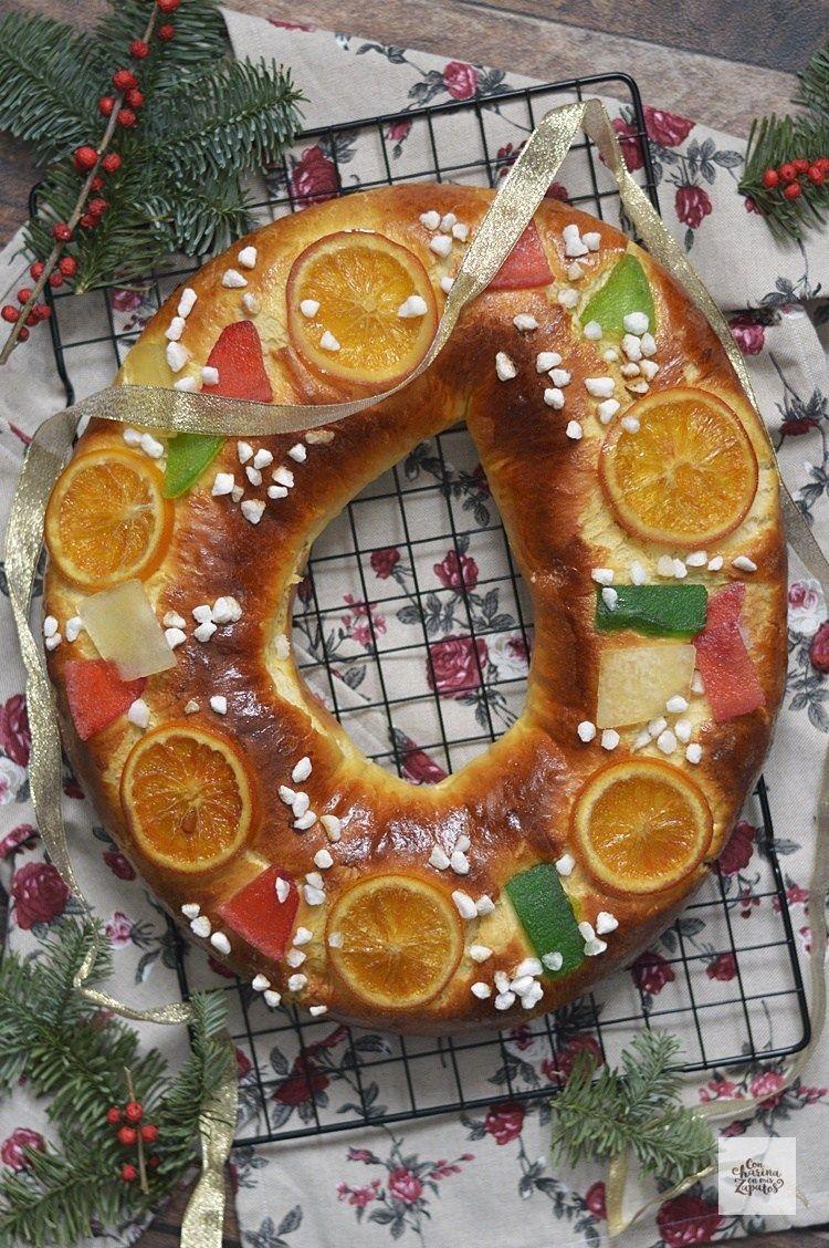 Receta De Roscón De Reyes Con Harina En Mis Zapatos Roscón De Reyes Recetas Comida De Navidad