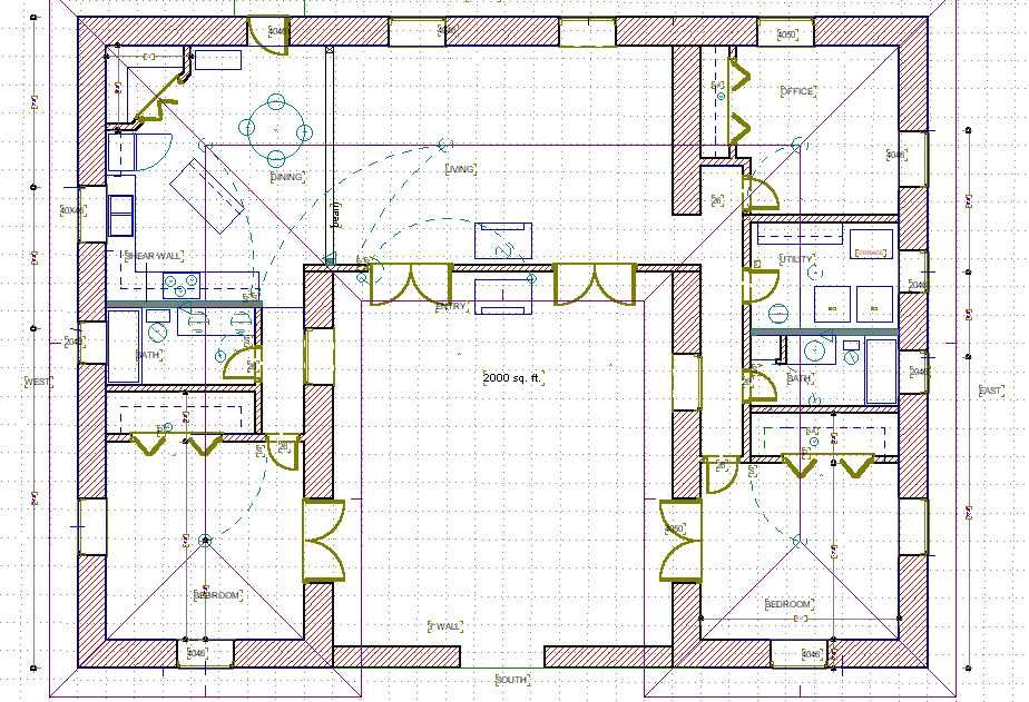 A Straw Bale House Plan 1479 Sq Ft Plan Doma Plan Idei Dlya Doma