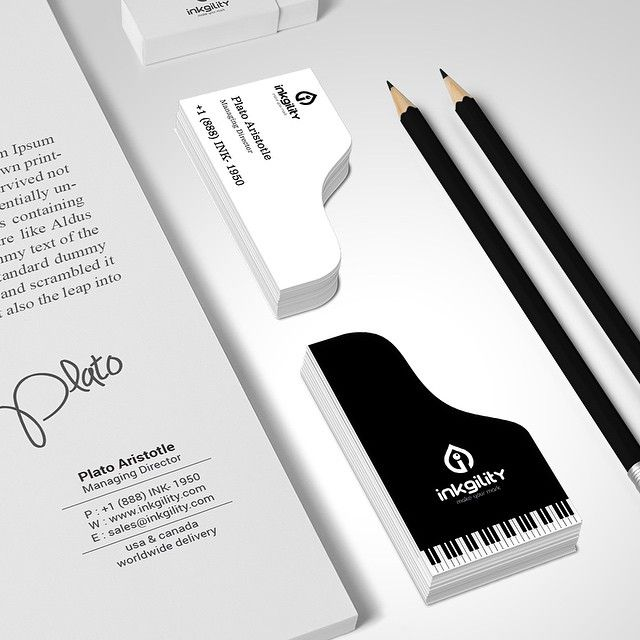 Amazing Piano Businesscards From Inkgility Tag A Friend Tag