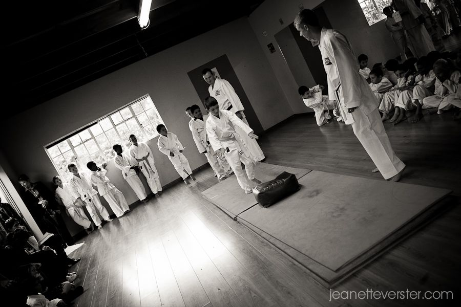 A few photos from the karate open day held once a term