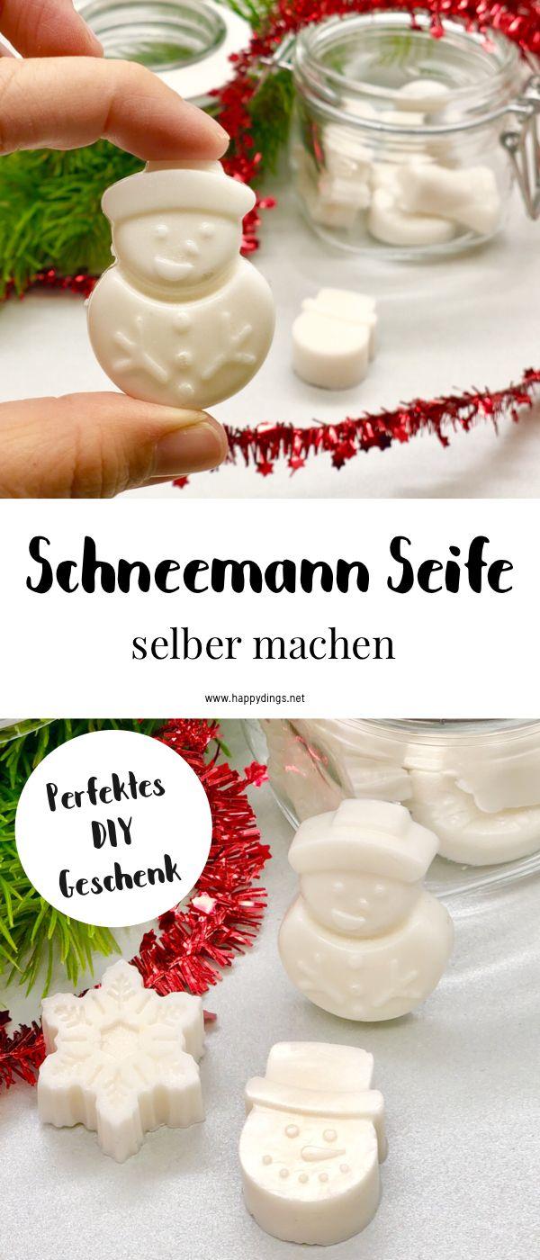 Seife selber machen - süße DIY Geschenke zu Weihnachten #weihnachtsgeschenkebasteln