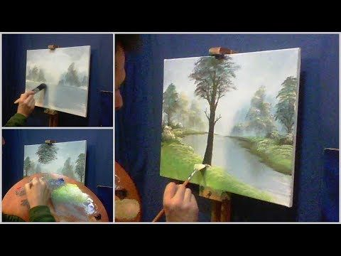 Come dipingere un quadro in 5 minuti con Gighi - YouTube | Paesaggi ...