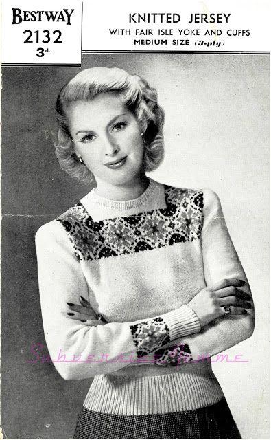 The Vintage Pattern Files: Free 1940s Knitting Pattern Bestway ...