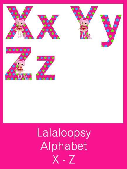 Lalaloopsy Alphabet Letters - FREE PDF Download lalaloopsy - letters in pdf