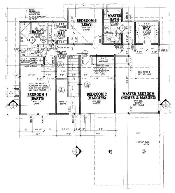 Simpsons House Blueprint The Simpsons Pinterest - new blueprint plan company
