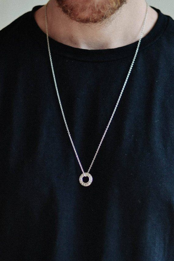 Karma Necklace For Men S With A Silver Circle