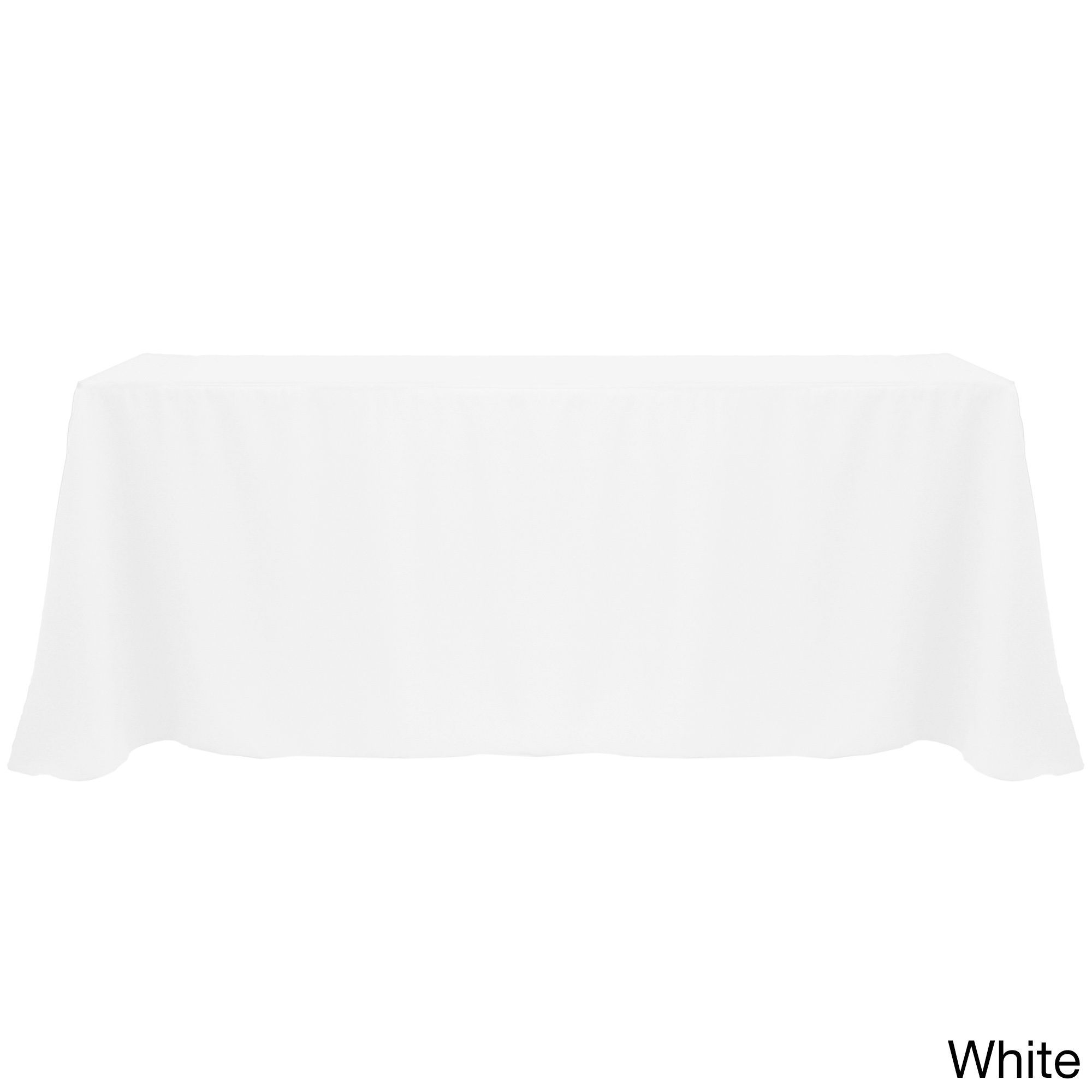 Solid Color 90 X 156 Inches Vibrant Tablecloth (White)