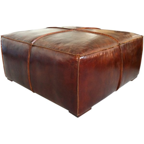 Brown Distressed Leather Wred Coffee Table Ottoman Ping Great Deals