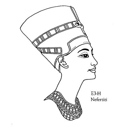 Large Nefertiti Unmounted Clear Stamp Egyptian Clear Stamps