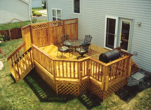 1 Bump Out For The Grill Allows The Front Of The Grill To Be Flush With The Railing Of The Deck And Maximizes Backyard Plan Decks Backyard Pergola On The Roof